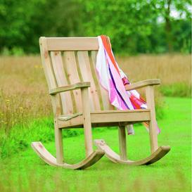 image-Alexander Rose Garden Furniture Solid Pine Farmers Rocking Chair