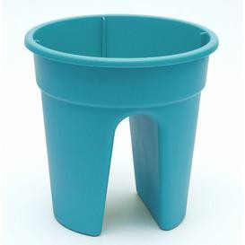 image-3 Piece Plastic Balcony Planter Set KHW Colour: Turquoise
