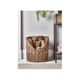image-Rattan Log Basket - Asymetrical