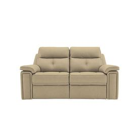 image-G Plan - Hannington 2 Seater Leather Power Recliner Sofa