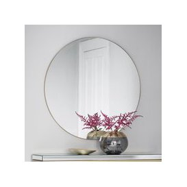 image-Gallery Hayle Round Mirror Champagne