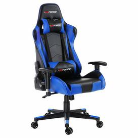 image-Forcier Ergonomic Gaming Chair Brayden Studio Colour (Upholstery): Blue