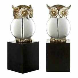 image-2 Piece Owl Bookends Set Symple Stuff