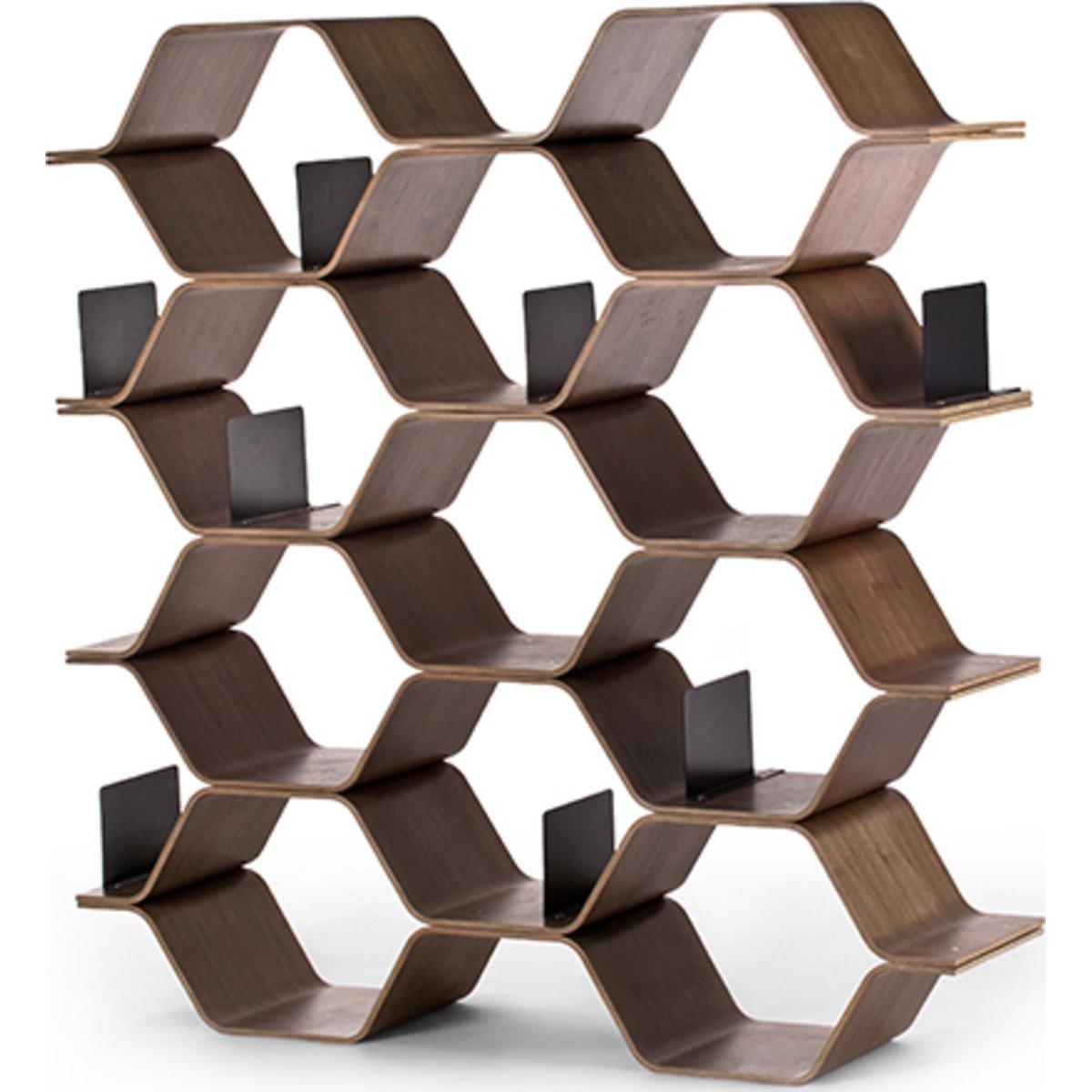 image-Polygon Shelving Unit, Walnut