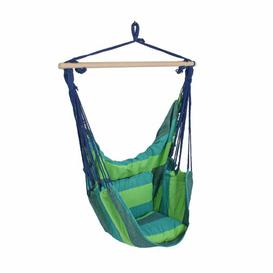 image-Samira Hanging Chair Freeport Park Colour: Green / Blue