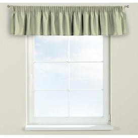 image-Rustica Curtain Pelmet Dekoria Size: 130cm W x 40cm L, Colour: Green and grey
