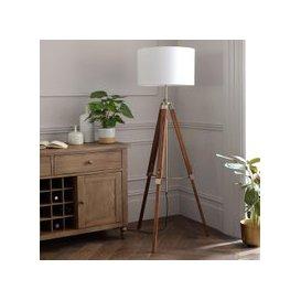 image-Easel Floor Lamp - Dark Wood