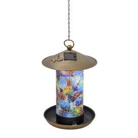 image-Globerite Solar Hanging Bird Feeding Station