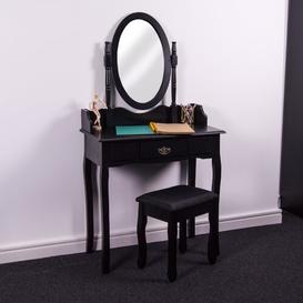 image-Remmington Dressing Table Set with Mirror Marlow Home Co.