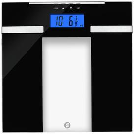 image-WW Ultra Slim Glass Analyser Bathroom Scale - Black