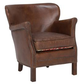 image-Cavendish Leather Armchair, Vintage Cigar