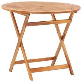 image-Amar Folding Wodden Bar Table Sol 72 Outdoor Size: 75cm H x 90cm W x 90cm D, Colour: Brown