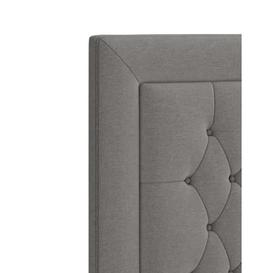 image-M&S Grand Headboard - 5FT - Light Grey Mix, Light Grey Mix,Light Duck Egg,Charcoal Mix