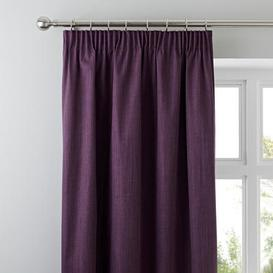 image-Solar Aubergine Blackout Pencil Pleat Curtains Aubergine (Purple)