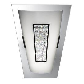 image-Searchlight 3773-IP Bathroom Wall Light In Chrome, Crystal And Glass