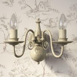 image-Aubervilliers 2-Light Candle Wall Light Lily Manor Finish: Grey Taupe Metal