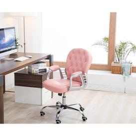 image-Micaden Ergonomic Task Chair Blue Elephant Upholstery Colour: Pink