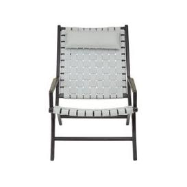 image-Formosa Teak Wood Woven Chair With Grey Leather
