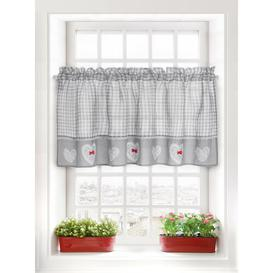 image-Heaton Slot Top Semi Sheer Curtain Brambly Cottage Panel Size: 150 W x 90 D cm, Colour: Grey