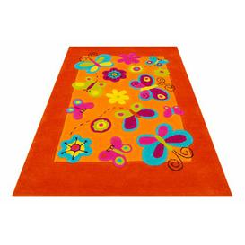 image-Kids Butterfly Handmade Tufted Orange Rug Bakero Rug Size: Rectangle 170 x 240cm