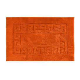 image-Luxury Cotton Burnt Orange Non-Slip Bath Mat Burnt Orange