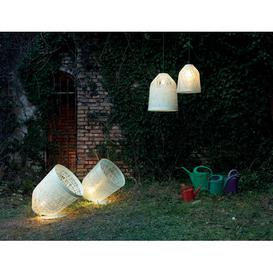 image-Black Out 1-Light Outdoor Pendant Karman Shade Colour: White, Size: 40cm H x 35cm W x 35cm D