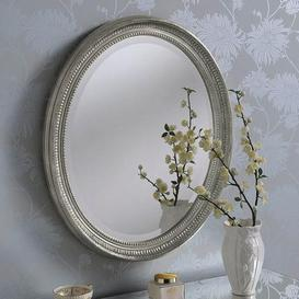 image-Yearn Ornate Oval Mirror 71x61cm Silver Silver