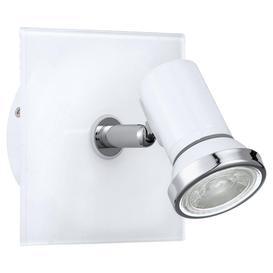image-Eglo 95993 Tamara 1 One Light Bathroom Wall Spotlight In White And Chrome