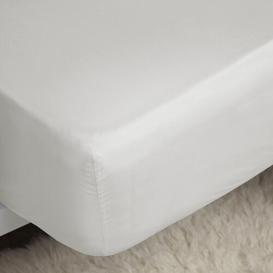 image-Benevento 200 Thread Count Egyptian Quality Cotton Fitted Sheet Symple Stuff Size: Single (91 x 191 cm), Colour: Ivory