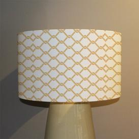 image-Chainlink Rope Cotton Drum Lamp Shade