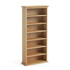 image-Multimedia Open DVD/CD Shelf Natur Pur Size: 109cm H x 56.5cm W x 24.5cm D