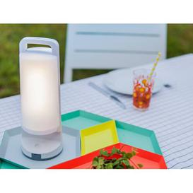 image-Taffy 28cm Solar Powered Integrated LED Outdoor Table Lamp Sol 72 Outdoor Colour: White
