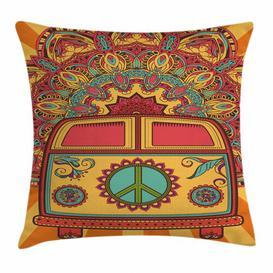 image-Bolde 70s Party Mini Van Ornaments Outdoor Cushion Cover Ebern Designs Size: 50cm H x 50cm W