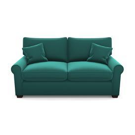 image-Bignor 2.5 Seater Sofa in Clever Glossy Velvet- Kingfisher