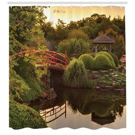 image-Bridge Plants Shower Curtain East Urban Home Size: 200cm H x 175cm W