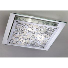 image-Diyas IL31017 Roveta Decorative Flush Ceiling Light in Polished Chrome