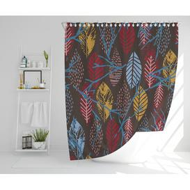 image-Purwokerto Polyester Shower Curtain Set Rosalind Wheeler Size: 177cm H x 177cm W