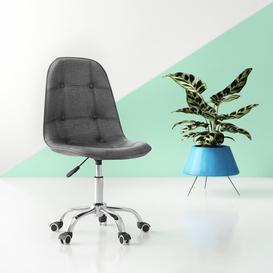 image-Zareen Desk Chair Hashtag Home Upholstery Colour: Fabric Grey