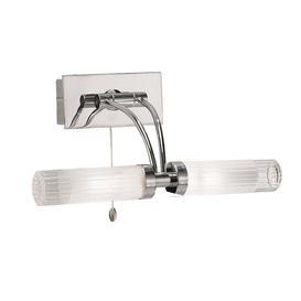 image-W536 Chrome Bathroom Wall Light with Adjustable Arm