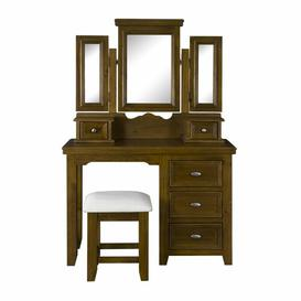 image-Jocelyn Dressing Table Set with Mirror Marlow Home Co.