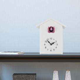 image-ZipCode Design Cuckoo Tabletop Clock Zipcode Design Finish: White/Pink Window