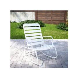 image-Novogratz Roberta Rocking Chair In White