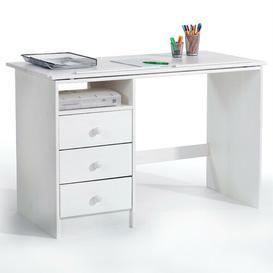 image-Fisher 115cm Writing Desk Isabelle & Max Colour/Finish: White