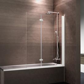 image-Komfort Straight Glass Folding Bath Screen