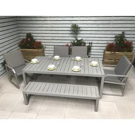 image-Signature Weave Garden Furniture Alarna Bench Dining Set