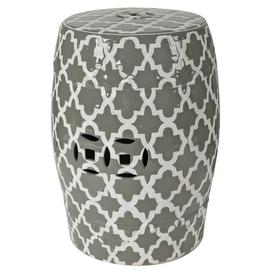 image-Holgate Ceramic Garden Stool Mercury Row Colour: Grey