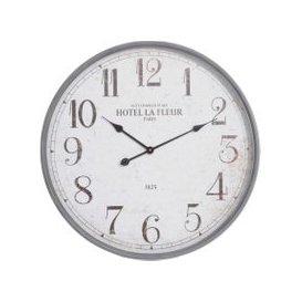 image-Rustic Parisian Wall Clock, Grey