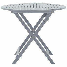 image-Amar Folding Wodden Bar Table Sol 72 Outdoor Size: 75cm H x 90cm W x 90cm D, Colour: Grey