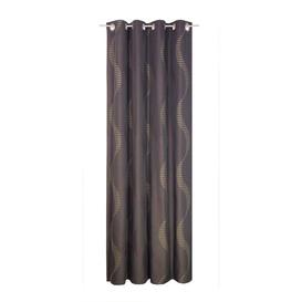 image-Pearson Eyelet Room Darkening Single Curtain Mercury Row Colour: Brown, Size: 180cm L x 132cm W