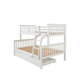 image-Novara Detachable Trio Bunk Bed With Mattress Options (Buy &Amp Save!) &Ndash Excludes Trundle - Bed Frame Only